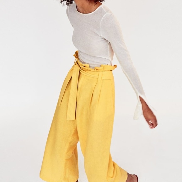 d2ac0c70fb Zara Wide Leg Linen Pants